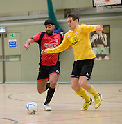 Dundee Futsal Club (red) v Polonia Edinburgh (yellow) - Scottish Futsal Cup last 16 at DISC<br /> <br />  - &copy; David Young - www.davidyoungphoto.co.uk - email: davidyoungphoto@gmail.com