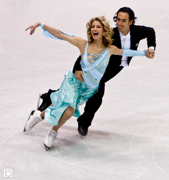 Nov 13, 2009: The USA's Tanith Belbin and Benjamin Agusto win first place in the Compulsary Dance event at Skate America 2009 at the Herb Brooks Arena in Lake Placid, N.Y. (ORDA Photo /Todd Bissonette)