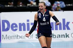 20171021 BEL: Champions League, Asterix Avo Beveren - Sliedrecht Sport: Oostakker<br />Lea van Rooijen (4) of Sliedrecht Sport <br />&copy;2017-FotoHoogendoorn.nl / Pim Waslander