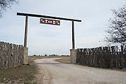 JUSTIN, TX - FEBRUARY 4, 2014: The entrance to a home for sale at 1780 Strader Road for the What You Get column. (Cooper Neill / for The New York Times)