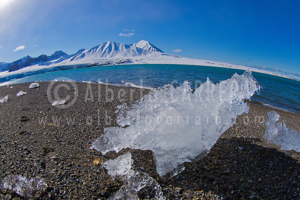 Alberto Carrera, Arctic Lands, Glacier Ice, Drift floating Ice,14 of July Glacier, Krossfjord, Arctic, Spitsbergen, Svalbard, Norway, Europe