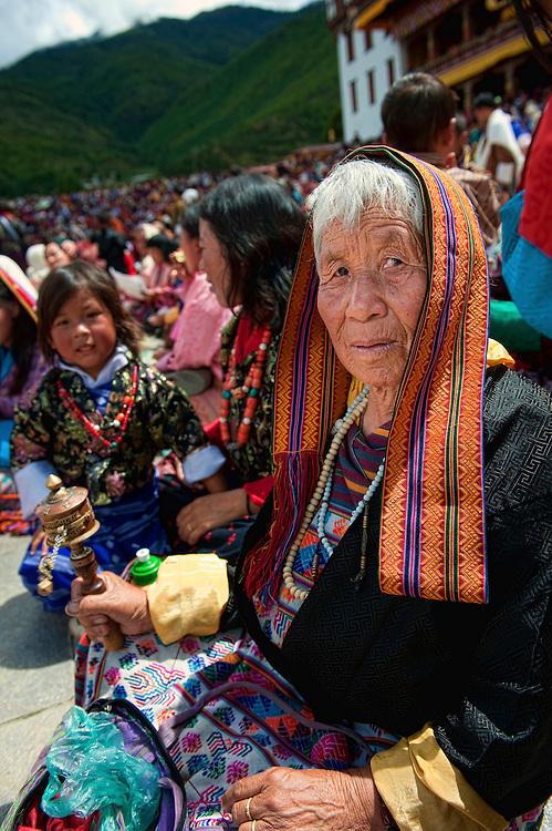 Asia, Tibet, Bhutan, Thimpu, Cham, Tsechu, Dzong