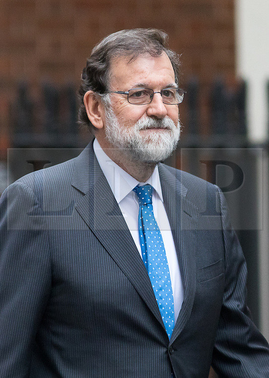 © Licensed to London News Pictures. 05/12/2017. London, UK. Spanish Prime Minister Mariano Rajoy arrives in Downing Street to meet British Prime Minister Theresa May (not pictured). Photo credit : Tom Nicholson/LNP