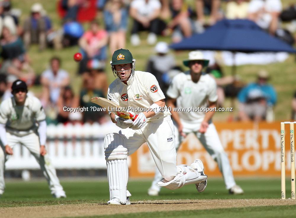 Australia's Michael Clarke.<br /> 1st cricket test match - New Zealand Black Caps v Australia, day one at the Basin Reserve, Wellington.Friday, 19 March 2010. Photo: Dave Lintott/PHOTOSPORT