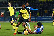 Burton Albion's new loan signing Darren Bent on the attack during the EFL Sky Bet Championship match between Burton Albion and Reading at the Pirelli Stadium, Burton upon Trent, England on 30 January 2018. Photo by John Potts.
