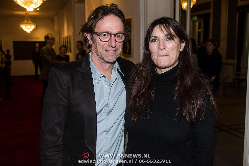 NLD/Amsterdam/20150206 - Fedde le Grand opening Grand int Carre Amsterdam, Eric van Tijn en partner Teruska Bollen