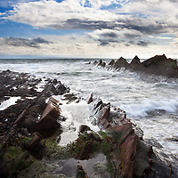 Stormy Weather over the Firth of Forth at St Monans East Neuk of Fife Scotland