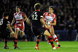 James Hook of Gloucester Rugby in possession - Photo mandatory by-line: Patrick Khachfe/JMP - Mobile: 07966 386802 01/05/2015 - SPORT - RUGBY UNION - London - The Twickenham Stoop - Edinburgh Rugby v Gloucester Rugby - European Rugby Challenge Cup Final