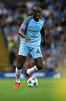 Football - 2016 / 2017 Champions League - Qualifying Play-Off, Second Leg: Manchester City [5] vs. Steaua Bucharest [0]<br /> <br /> Yaya Toure of Manchester City during the match, at the Ethihad Stadium.<br /> <br /> COLORSPORT/LYNNE CAMERON
