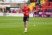 Jimmy Smith of Crawley Town (8) warms up during the EFL Sky Bet League 2 match between Lincoln City and Crawley Town at Sincil Bank, Lincoln, United Kingdom on 28 October 2017. Photo by Mick Haynes.