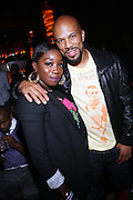 l to r: Estelle and Common at the Afterparty for Common's Concert wth Maxwell at Madison Square Garden hosted by Common and held at Marquee on September 29, 2009 in New York City