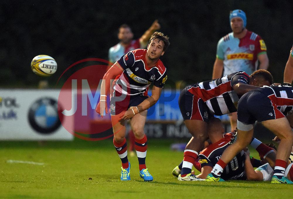 Martin Roberts of Bristol United passes  - Mandatory by-line: Joe Meredith/JMP - 12/09/2016 - RUGBY - Clifton RFC - Bristol, England - Bristol United v Harlequins A - Aviva A League