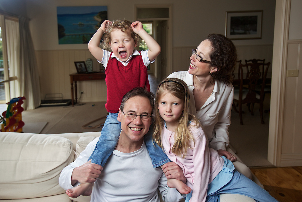Fathers day is coming for Federal MP Greg Hunt and his family - wife Paula and two children, Poppy 7 and James nearly 3. Pic By Craig Sillitoe CSZ / The Sunday Age.18/08/2012 melbourne photographers, commercial photographers, industrial photographers, corporate photographer, architectural photographers, This photograph can be used for non commercial uses with attribution. Credit: Craig Sillitoe Photography / http://www.csillitoe.com<br />