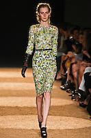 Julia Nobis walks the runway wearing Proenza Schouler Spring 2012 Collection during Mercedes-Benz Fashion Week in New York on September 14, 2012