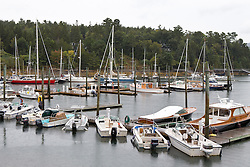 Boats in a marina Northeast Harbor, near Acadia National Park, Maine, United States of America