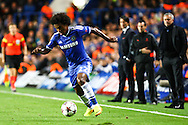 Picture by Daniel Chesterton/Focus Images Ltd +44 7966 018899<br /> 18/09/2013<br /> Willian of Chelsea on the ball during the UEFA Champions League match at Stamford Bridge, London.