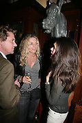 Mathew Racher, Kira Franck and Francesca Cava, PJ's Annual Polo Party . Annual Pre-Polo party that celebrates the start of the 2007 Polo season.  PJ's Bar & Grill, 52 Fulham Road, London, SW3. 14 May 2007. <br />