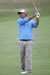 USA's Clark Dennis during day three of the Senior Open at Royal Porthcawl Golf Club, Porthcawl.