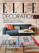 Elle Decoration cover polish edition 1/2014 professional interior photography by Piotr Gesicki