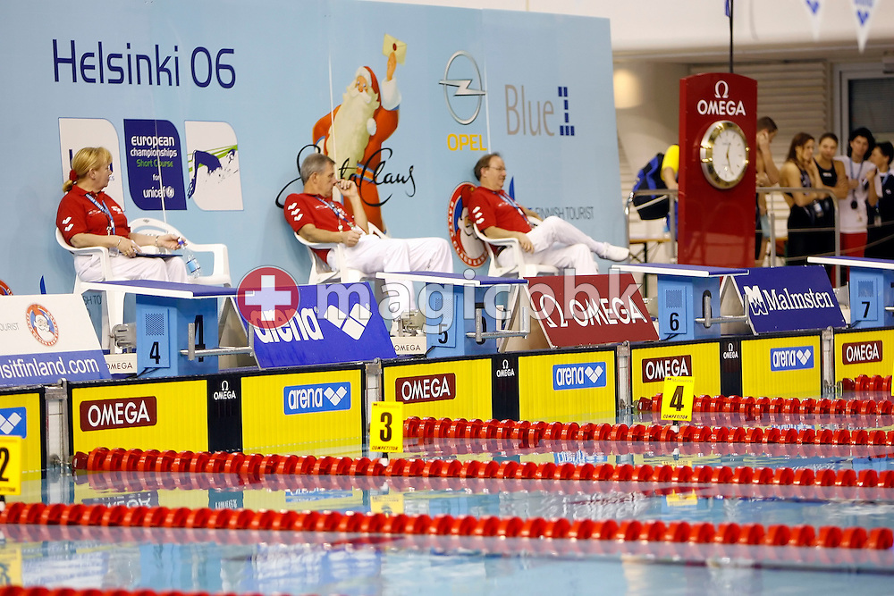 Overview of the competition pool during the men's 1500m freestyle heats on day three at the European Short-Course Swimming Championships at the Maekelaenrinne Swimming Centre in Helsinki, Finland, Saturday December 9, 2006. (Photo by Patrick B. Kraemer / MAGICPBK)