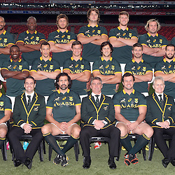 PORT ELIZABETH, SOUTH AFRICA - JUNE 27: Team photograph during the South African National rugby team captains run and official team photograph at Nelson Mandela Bay Stadium on June 27, 2014 in Port Elizabeth, South Africa. (Photo by Steve Haag/Gallo Images)