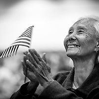 Hong Inh, 103 year old Cambodian immigrant, becomes a US citizen. She came to America in 2011.  She was on of over 10,000 immigrants who became US Citizens on August 22, 2017 in Los Angeles.