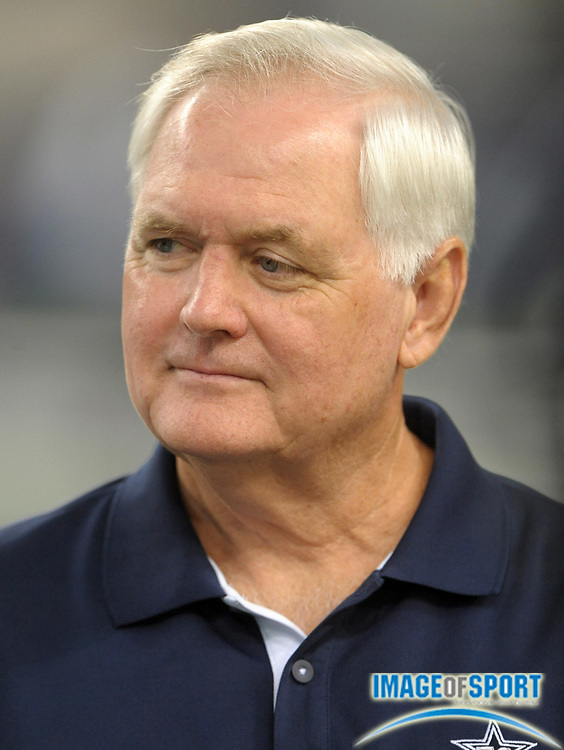 Aug 12, 2010; Arlington, TX, USA; Dallas Cowboys coach Wade Phillips watches from the sidelines during the preseason game against the Oakland Raiders at Cowboys Stadium. Photo by Image of Sport