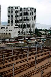CHINA HONG KONG 26MAY10 - MTR station in Feng Ha Chuen in the east of Hong Kong island...jre/Photo by Jiri Rezac..© Jiri Rezac 2010