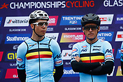 Men Road Race 230,4 km, Wout Van Aert (Belgium), Greg Van Avermaet (Belgium) , during the Cycling European Championships Glasgow 2018, in Glasgow City Centre and metropolitan areas, Great Britain, Day 11, on August 12, 2018 - Photo Luca Bettini / BettiniPhoto / ProSportsImages / DPPI - Belgium out, Spain out, Italy out, Netherlands out -