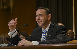 June 13, 2017 - Washington, District of Columbia, U.S - Deputy Attorney Gerenal Rod Rosenstein testifies in front of the Senate Appropiations Subcommittee (Credit Image: © Mark Reinstein via ZUMA Wire)