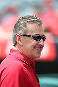 ANAHEIM, CA - JULY 20:  Arte Moreno owner of the Los Angeles Angels of Anaheim smiles before the game against the Seattle Mariners at Angel Stadium on Sunday, July 20, 2014 in Anaheim, California. The Angels won the game 6-5. (Photo by Paul Spinelli/MLB Photos via Getty Images) *** Local Caption *** Arte Moreno