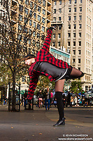 Union Square New York City Dance As Art photo shoot featuring dancer Amanda Lewis. Dance As Art- The New York Photography Project