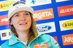 Marusa Ferk during official presentation of the outfits of the Slovenian Ski Teams before new season 2016/17, on October 18, 2016 in Planica, Slovenia. Photo by Vid Ponikvar / Sportida