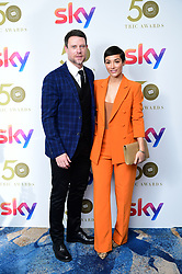 Wayne Bridge and Frankie Bridge attending the TRIC Awards 2019 50th Birthday Celebration held at the Grosvenor House Hotel, London.