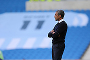 Brighton Manager Chris Houghton reflects on the match commemorating the victims of the Shoreham air crash during the Sky Bet Championship match between Brighton and Hove Albion and Hull City at the American Express Community Stadium, Brighton and Hove, England on 12 September 2015. Photo by Geoff Penn.