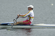 Hazewinkel. BELGUIM  GBR LM1X. Rod CHISHOLM. 2004 GBR Rowing Trials - Rowing Course, Bloso, Hazewinkel. BELGUIM. [Mandatory Credit Peter Spurrier/ Intersport Images]