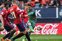 Aritz Aduriz of Athletic Club during the match of  La Liga between Club Atletico Osasuna and Athletic Club Bilbao at El Sadar Stadium  in Pamplona, Spain. April 01, 2017. (ALTERPHOTOS / Rodrigo Jimenez)