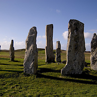 Circle of stones at Callanish, Isle of Lewis, Outer Hebrides,  Scotland<br />