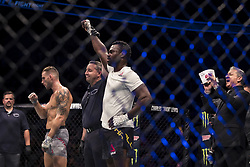 September 16, 2017 - Pittsburgh, Pennsylvania, USA - September 16, 2017: Uriah Hall defeats Krzysztof Jotko by knock out in the second round during UFC Fight Night at PPG Paints Arena in Pittsburgh, Pennsylvania. (Credit Image: © Scott Taetsch via ZUMA Wire)