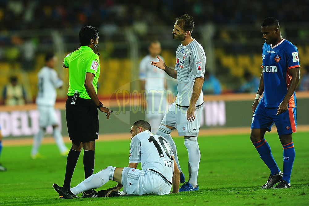 Match referee during match 8 of the Indian Super League (ISL) season 3 between FC Goa and FC Pune City held at the Fatorda Stadium in Goa, India on the 8th October 2016.<br /> <br /> Photo by Faheem Hussain / ISL/ SPORTZPICS
