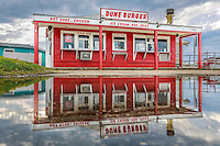 Reflection of a popular spot on the Outer Banks in Nags Head North Carolina.