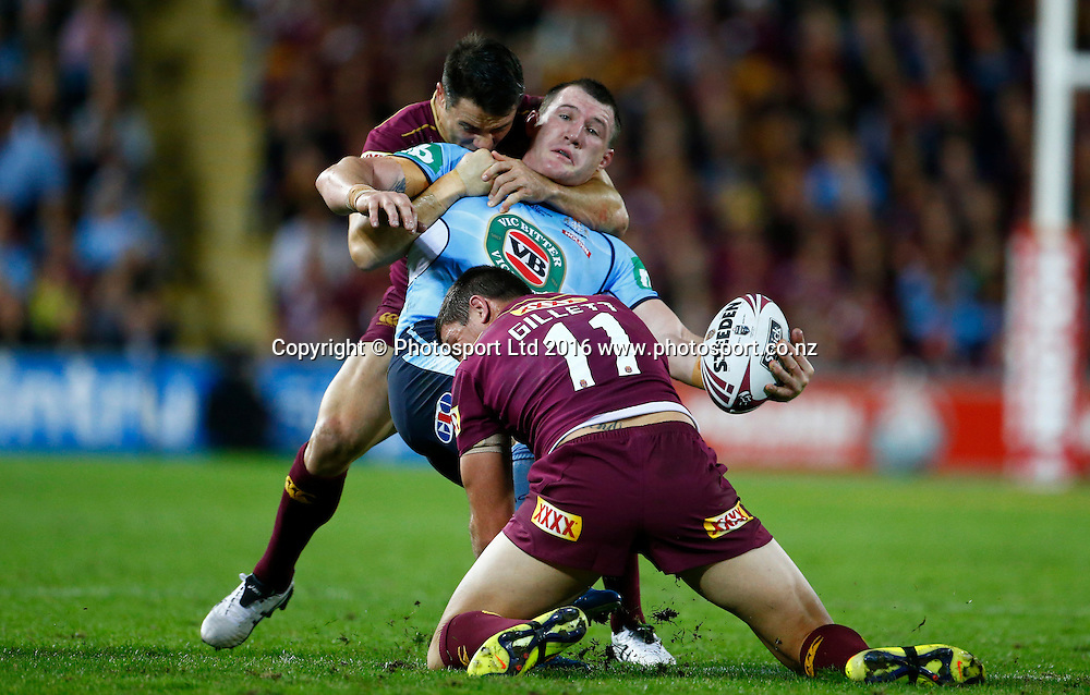 Rugby League State of Origin Game 2 - 22/6/2016 Queensland v New South Wales Suncorp Stadium , Brisbane Australia<br /> New South Wales Paul Gallen in action<br /> Photo : Jason O'Brien / www.photosport.nz