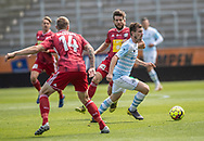 Nicolas Mortensen (FC Helsingør) under træningskampen mellem Lyngby Boldklub og FC Helsingør den 3. juli 2019 på Lyngby Stadion (Foto: Claus Birch)