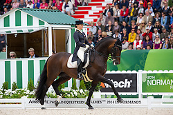 Victoria Max Theurer, (AUT), Augustin Old - Grand Prix Special Dressage - Alltech FEI World Equestrian Games™ 2014 - Normandy, France.<br /> © Hippo Foto Team - Leanjo de Koster<br /> 25/06/14