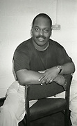 Frankie Knuckles, the American DJ,  backstage, UK, 1990s