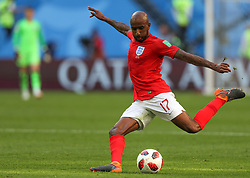 July 14, 2018 - Saint Petersburg, Russia - Fabian Delph of the England national football team vie for the ball during the 2018 FIFA World Cup Russia 3rd Place Playoff match between Belgium and England at Saint Petersburg Stadium on July 14, 2018 in St. Petersburg, Russia. (Credit Image: © Igor Russak/NurPhoto via ZUMA Press)