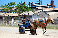 Horse and cart in Niquero, Granma, Cuba.