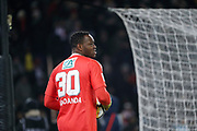 Steve MANDANDA (Olympique de Marseille) reacted during the French Cup, quarter final football match between Paris Saint-Germain and Olympique de Marseille on February 28, 2018 at Parc des Princes Stadium in Paris, France - Photo Stephane Allaman / ProSportsImages / DPPI