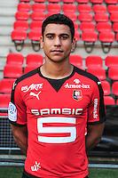 Benjamin Andre - 15.09.2015 - Photo officielle Rennes - Ligue 1 2015/2016<br /> Photo : Philippe Le Brech / Icon Sport