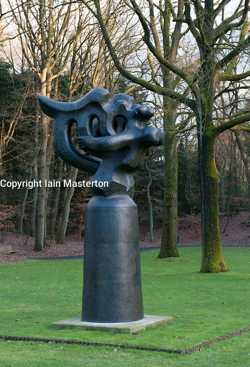 Modern art sculpture at Kroller-Muller Museum in The Netherlands